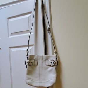 Coach crossbody / shoulder purse pre-owned white